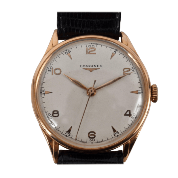 Longines Watch in Pink Gold, Manual Charge Extra Large, 1950s