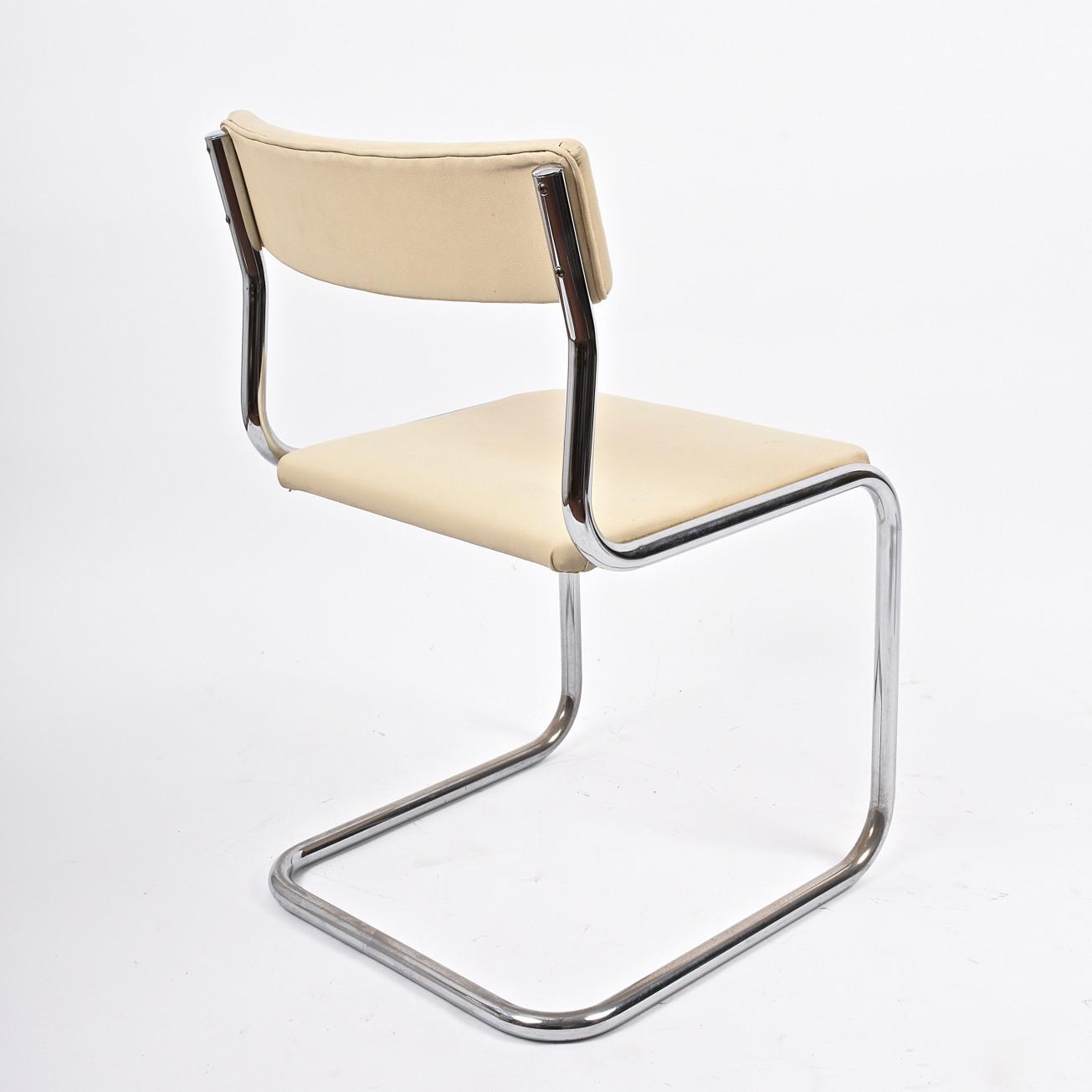 Bauhaus breuer style sedie in metallo cromato con seduta for Sedie design anni 20