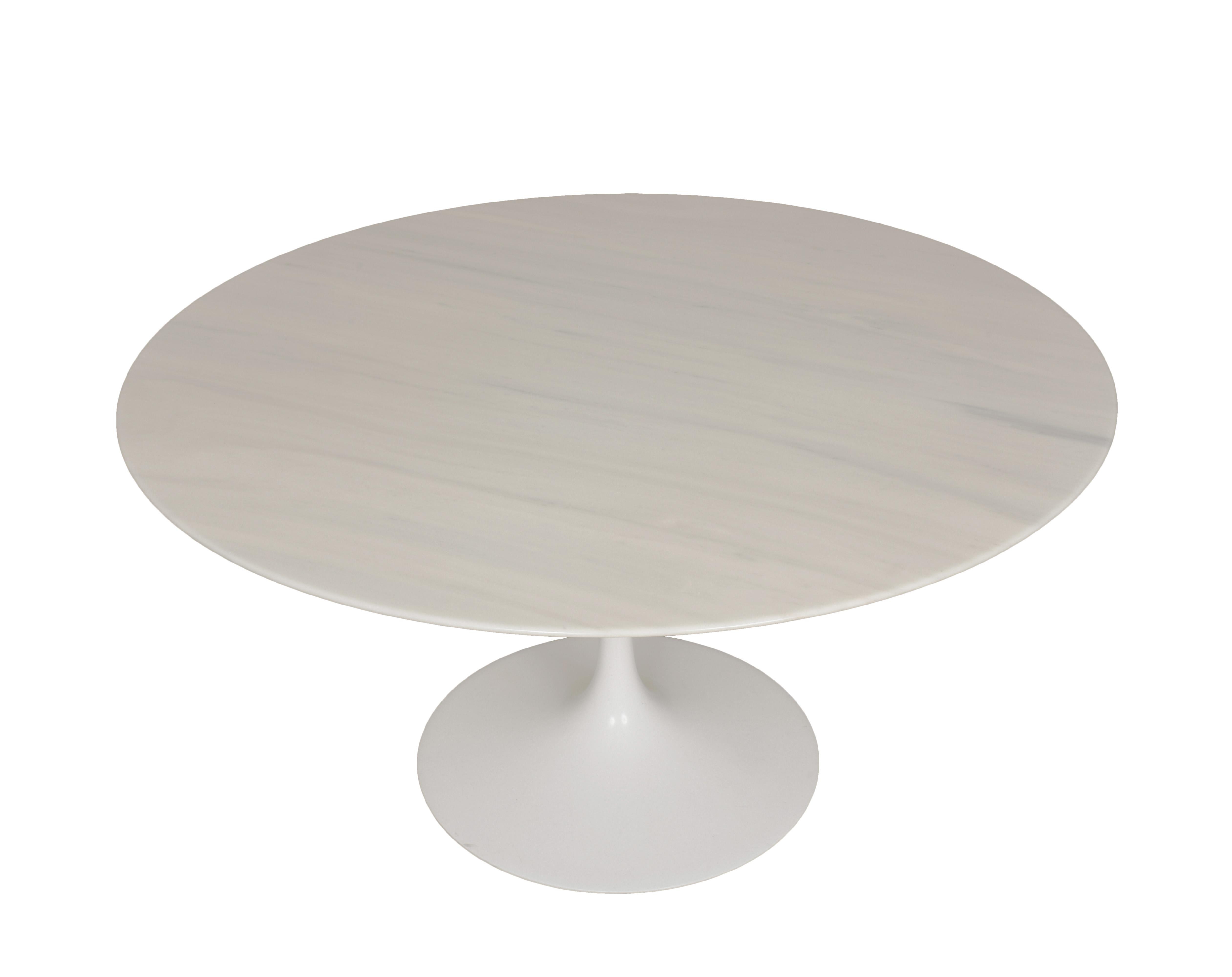 Tavolo Saarinen Misure : Eero saarinen tulip carrara marble table round knoll