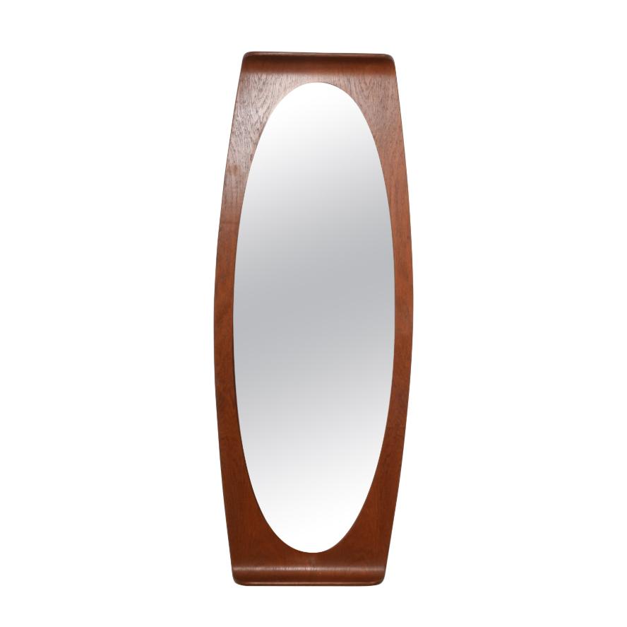 Specchio da parete Franco Campo e Carlo Graffi in legno curvato, Italia, anni '60