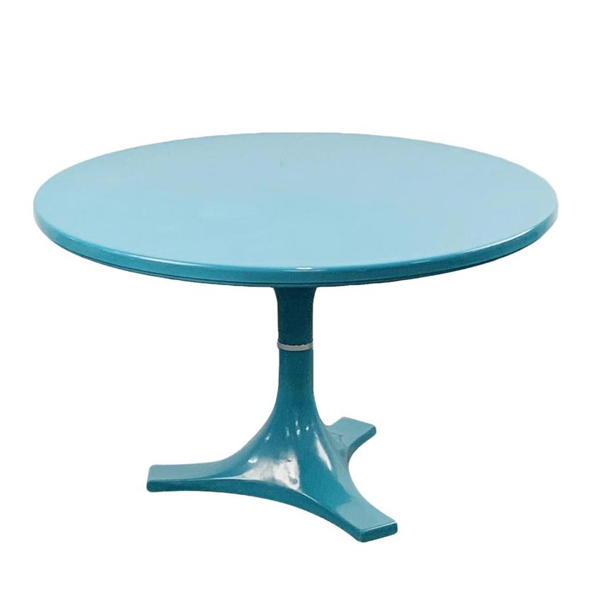 Kartell Tavoli Da Pranzo.Tavolo Rotondo Turchese Di Anna Castelli Ferrieri Per Kartell